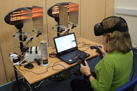 Bridget using VR with heat and scent